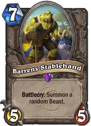 Barrens Stablehand Card