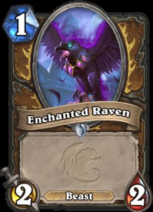 Enchanted Raven Card