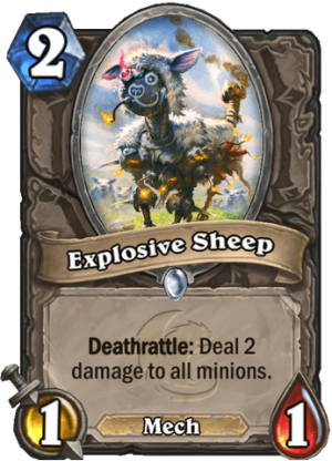 Explosive Sheep Card