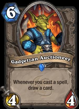 Gadgetzan Auctioneer Card