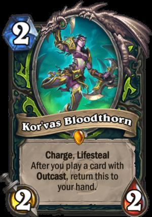 Kor'vas Bloodthorn Card