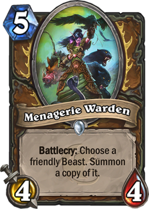 Menagerie Warden Card