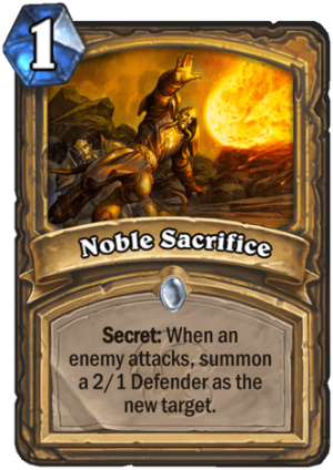 Noble Sacrifice Card
