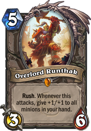Overlord Runthak Card