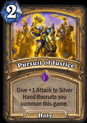 Pursuit of Justice Card