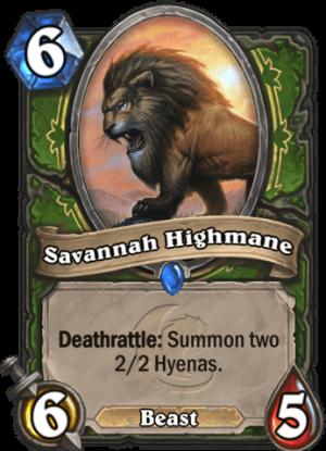 Savannah Highmane Card