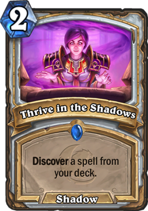 Thrive in the Shadows Card