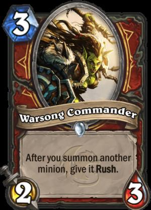 Warsong Commander Card