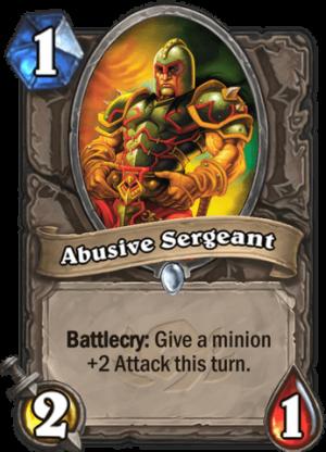Abusive Sergeant Card