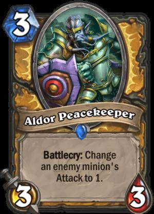 Aldor Peacekeeper Card