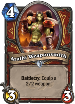 Arathi Weaponsmith Card