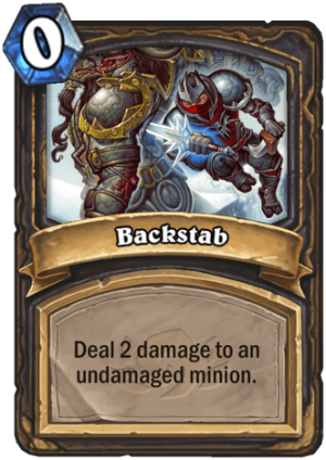 Backstab Card