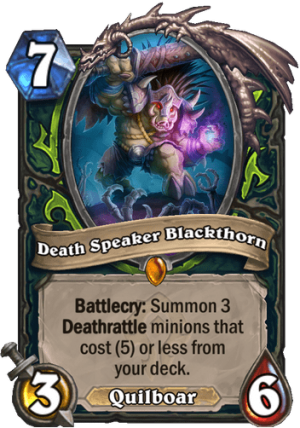 Death Speaker Blackthorn Card