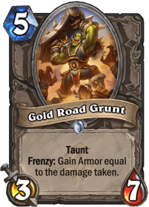 Gold Road Grunt Card