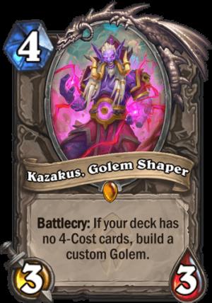 Kazakus, Golem Shaper Card