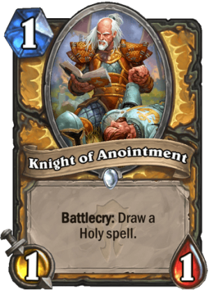 Knight of Anointment Card