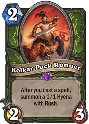 Kolkar Pack Runner Card