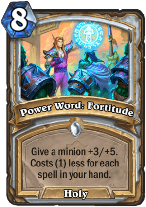Power Word: Fortitude Card