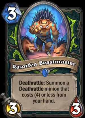 Razorfen Beastmaster Card