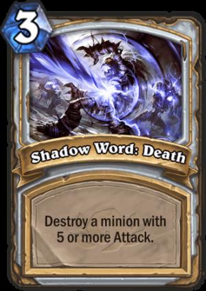 Shadow Word: Death Card