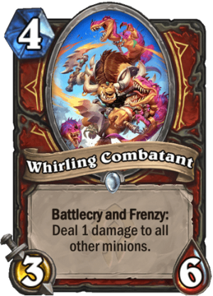 Whirling Combatant Card
