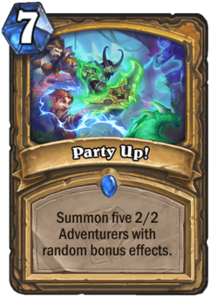 Party Up! Card