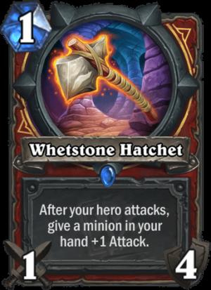 Whetstone Hatchet Card