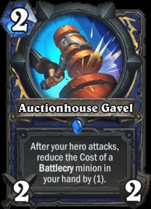 Auctionhouse Gavel Card