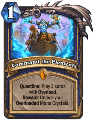 Command the Elements Card