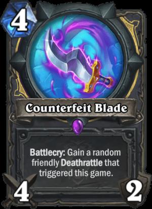 Counterfeit Blade Card