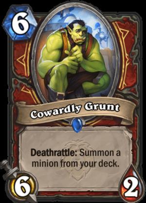 Cowardly Grunt Card
