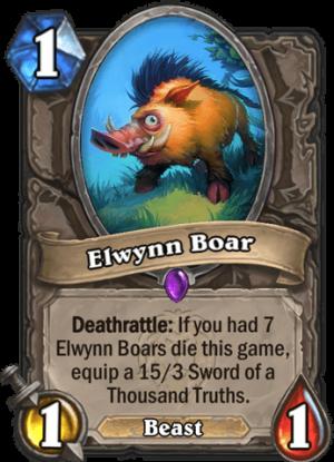 Elwynn Boar Card