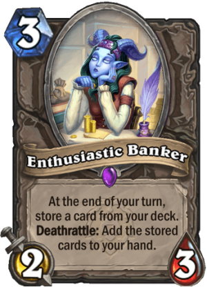 Enthusiastic Banker Card