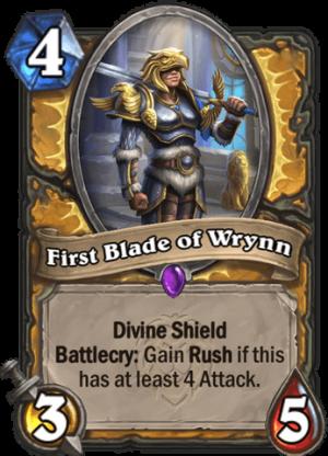 First Blade of Wrynn Card