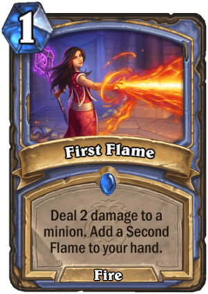 First Flame Card
