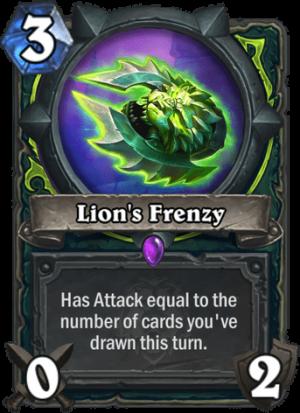 Lion's Frenzy Card