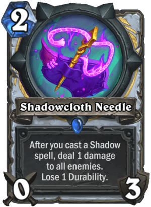 Shadowcloth Needle Card