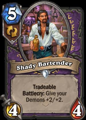 Shady Bartender Card