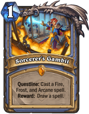 Sorcerer's Gambit Card