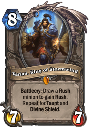 Varian, King of Stormwind Card