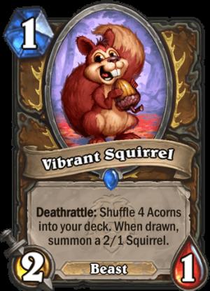Vibrant Squirrel Card